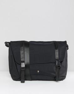 Черная нейлоновая сумка почтальона Farah - Черный