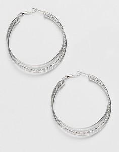 Серьги-кольца с перекрученной отделкой Missguided - Серебряный