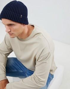 Темно-синяя шапка-бини Esprit - Темно-синий