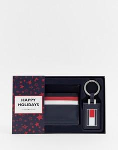 Подарочный набор с кредитницей и брелком Tommy Hilfiger corporate - Синий