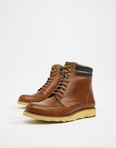Светло-коричневые кожаные ботинки в походном стиле Original Penguin - Рыжий