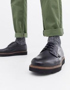 Массивные туфли на шнуровке Farah - Черный