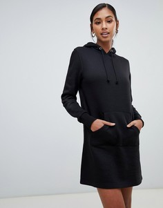 Платье-свитшот с капюшоном Brave Soul - Черный