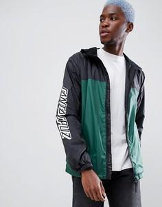Черная куртка с принтом на рукаве Santa Cruz Team - Черный