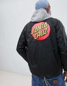 Черная спортивная куртка с принтом кричащая рука Santa Cruz - Черный