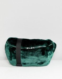 Большая сумка с отделкой из искусственного меха weekday - Зеленый