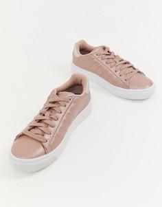 Бело-розовые кроссовки K Swiss court frasco - Розовый
