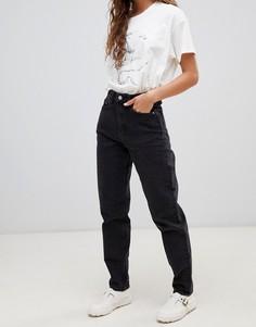 Джинсы в винтажном стиле с завышенной талией Weekday - Черный