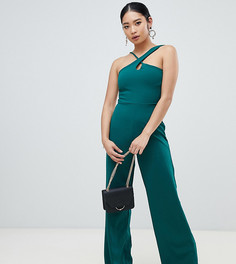 Зеленый комбинезон с широкими штанинами Missguided Petite - Зеленый
