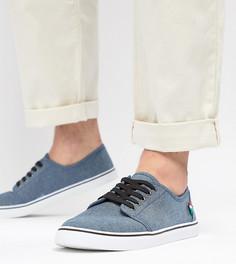 Парусиновые кеды на шнуровке Duke - Темно-синий