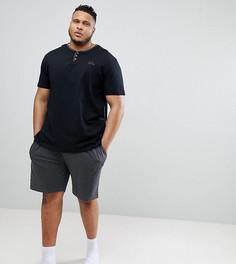 Футболка с горловиной на пуговицах и шорты Duke King Size - Мульти