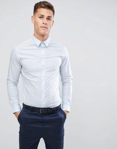 Голубая эластичная строгая рубашка Celio - Синий