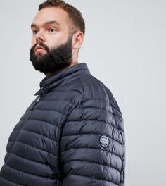 Стеганая куртка с контрастной подкладкой North 56.4 - Серый