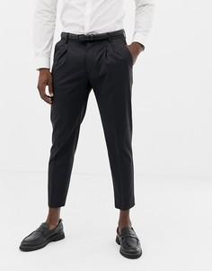 Темно-серые зауженные брюки United Colors Of Benetton - Серый