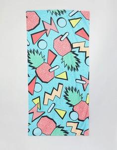 Полотенце с ананасовым принтом в стиле ретро ASOS DESIGN - Мульти