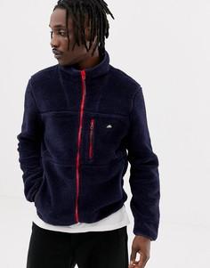 Темно-синяя куртка из искусственного меха с контрастной молнией Penfield Honan - Темно-синий