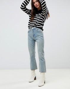 Выбеленные укороченные джинсы клеш ASOS DESIGN - Синий