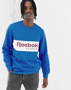 Свитшот с логотипом Reebok DX2345 - Синий