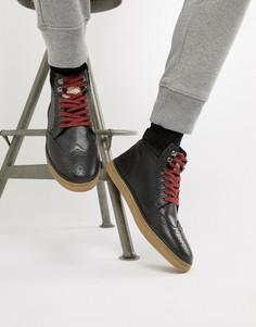 Черные кожаные ботинки-броги Original Penguin - Черный