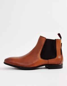 Светло-коричневые кожаные ботинки челси Ben Sherman - Рыжий