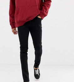 Черные байкерские джинсы зауженного кроя Jacamo - Черный