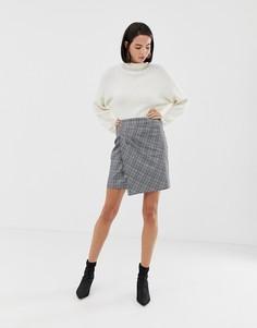 Мини-юбка в клетку Esprit - Серый