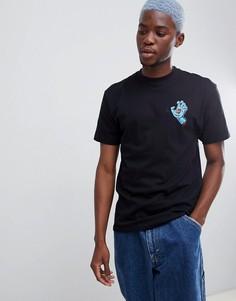 Черная футболка с фирменным принтом руки Santa Cruz - Черный