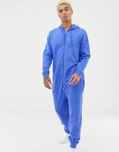 Синий комбинезон с капюшоном ASOS DESIGN - Синий