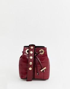 Бордовая сумка на пояс River Island - Красный