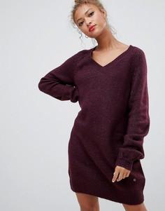 Платье-джемпер с добавлением шерсти альпака Blend She Dipsy - Красный