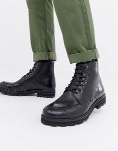 Ботинки в стиле милитари на шнуровке Farah Jeans - Черный