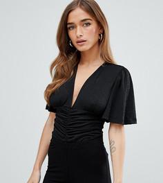 Боди с блестками Fashion Union Petite - Черный