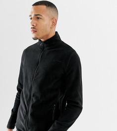 Черная флисовая куртка на молнии ASOS 4505 Tall - Черный