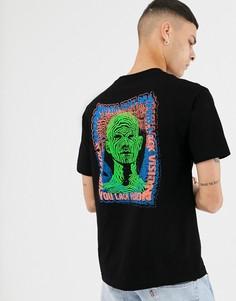 Черная футболка с принтом Primitive - Черный