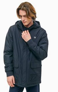 Синяя куртка с карманами и капюшоном Fred Perry