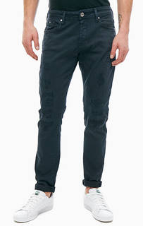 Синие джинсы зауженного кроя с застежкой болты Norton Carrot Gas