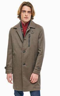 Пальто в клетку с карманом на молнии United Colors of Benetton