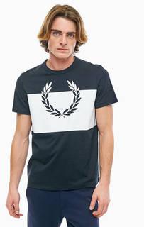 Хлопковая футболка с контрастным принтом Fred Perry