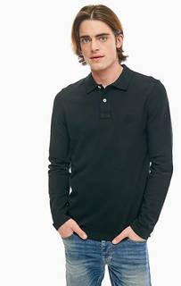 Черная футболка поло из хлопка United Colors of Benetton