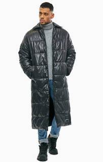 Длинная черная куртка с застежкой на кнопки Cheap Monday