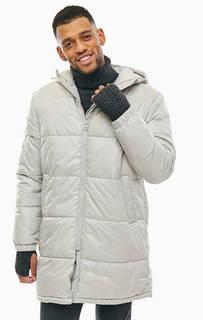 Длинная демисезонная куртка серого цвета Cheap Monday