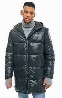 Длинная демисезонная куртка черного цвета Cheap Monday