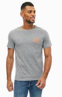 Серая хлопковая футболка с принтом Cheap Monday