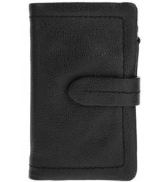 Черный кошелек из зерненой кожи Gianni Conti