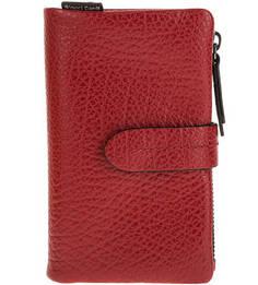 Красный кошелек из зерненой кожи Gianni Conti