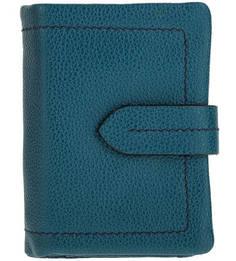 Бирюзовый кошелек из зерненой кожи Gianni Conti
