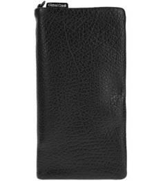 Черный кожаный кошелек на молнии Gianni Conti