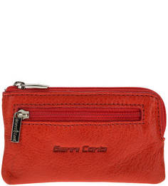 Кожаная ключница на молнии с карманом Gianni Conti