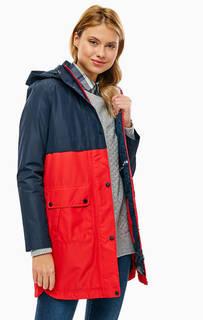 Двухцветная демисезонная куртка со съемным капюшоном Barbour