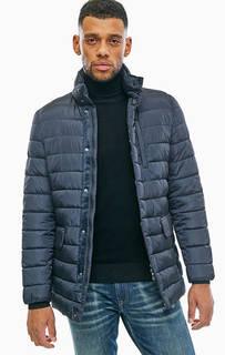 Синяя куртка со скрытым капюшоном Geox